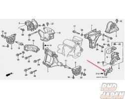 Honda OEM Engine Mounting Bracket - EK4 EK9 EG2 EG6 EG9